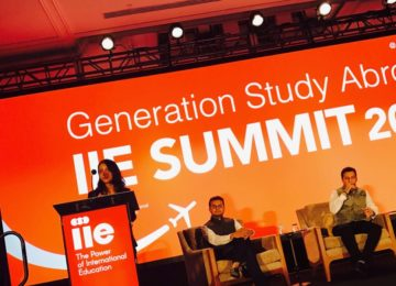 Representing India at the IIE Generation Study Abroad Summit