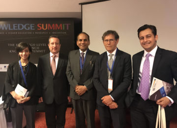 At the Indo-French Knowledge Summit in New Delhi