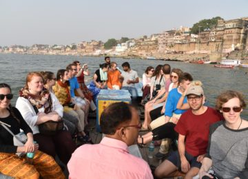 Boat ride on the sacred River Ganges in Varanasi, the world's first civilised city and India's most important religious destination