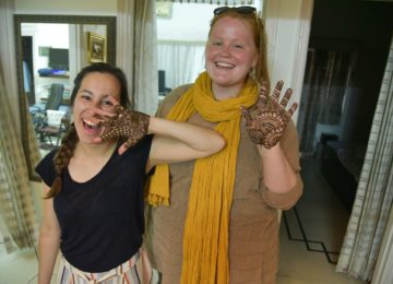 Mehndi (Henna) application session - An ancient Indian form of body art