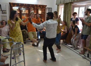 Bollywood dance session at an Indian home. The Indian film industry is the largest in the world in terms of number of films made each year and songs are an integral part of bollywood movies!