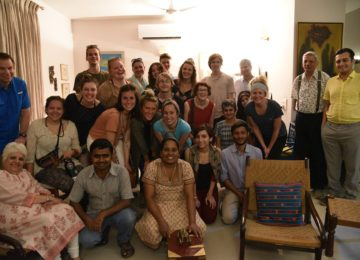 A culinary class at an Indian home - conducted by friends of our founders. Students were taught how to prepare a traditional 'parsi' feast!
