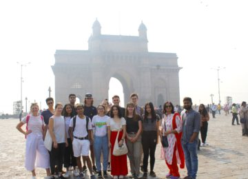 USYD students at Gateway of India, a 20th century monument erected to commemorate the landing of King George V and Queen Mary at Apollo Bunder on their visit to India in 1911