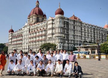 Group picture at the Heritage wing of the Taj Mahal Palace