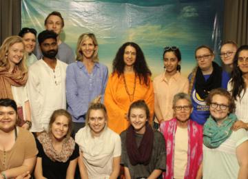 With Divine Sadhviji at Paramarth Niketan, Rishikesh