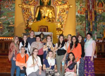 At the Norbulingka Institute's monastery in Dharamshala