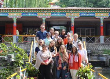 At Tibetan culture and art preservation center at Norbulingka Institute, Dharamshala