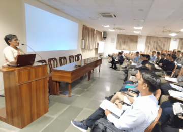 An interactive lecture and discussion on 'Women in Indian Society' by Dr. (Sr.) Ananda Amritmahal, the Principal of Sophia College For Woman, Mumbai.
