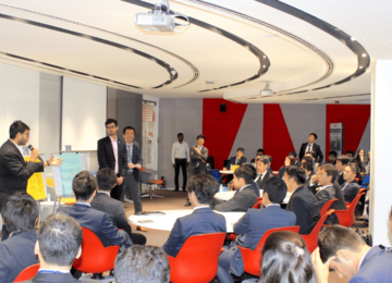 Presentations on future collaboration ideas for India and Japan by ISME students and ISL participants, with prizes for the winning team!