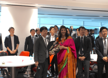 ISL participants with Dr. Indu Shahani, founding Dean of ISME, following her welcome address.